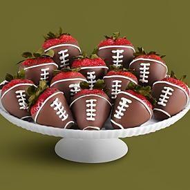 chocolate strawberry footballs
