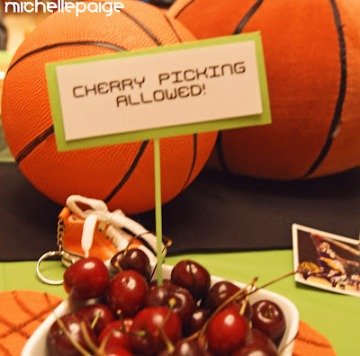 Basketball Party cherry