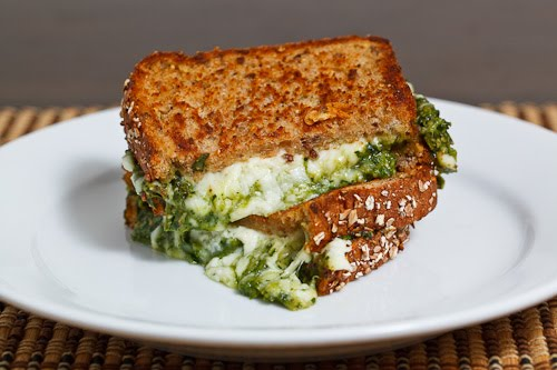 Spinach Pesto Grilled Cheese Sandwich 500
