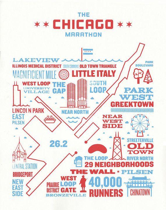 marathon map chicago 2014