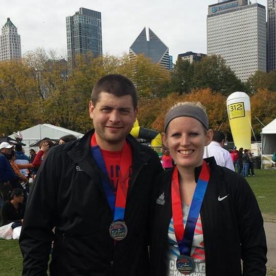 marathon medals chicago post race party