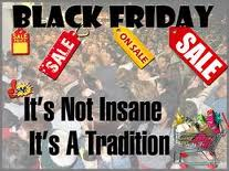 black friday shopping tradition sales
