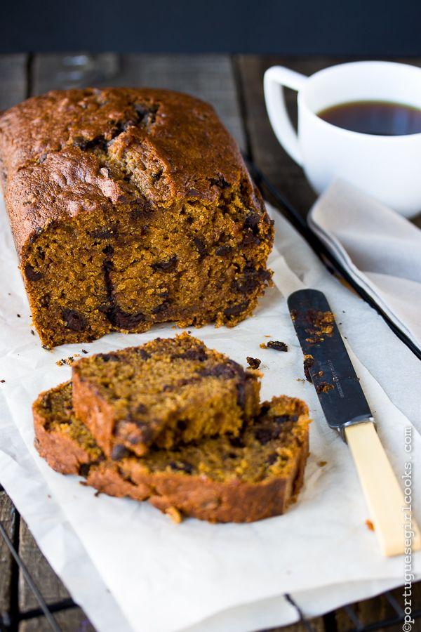 dark chocolate espresso pumpkin bread