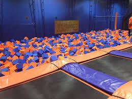 sky zone foam pit elmhurst indoor trampoline park