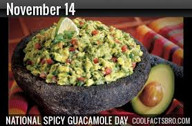 national spicy guacamole day november 14