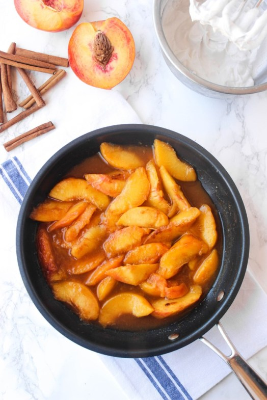 easy caramelized skillet peaches recipe national eat a peach day