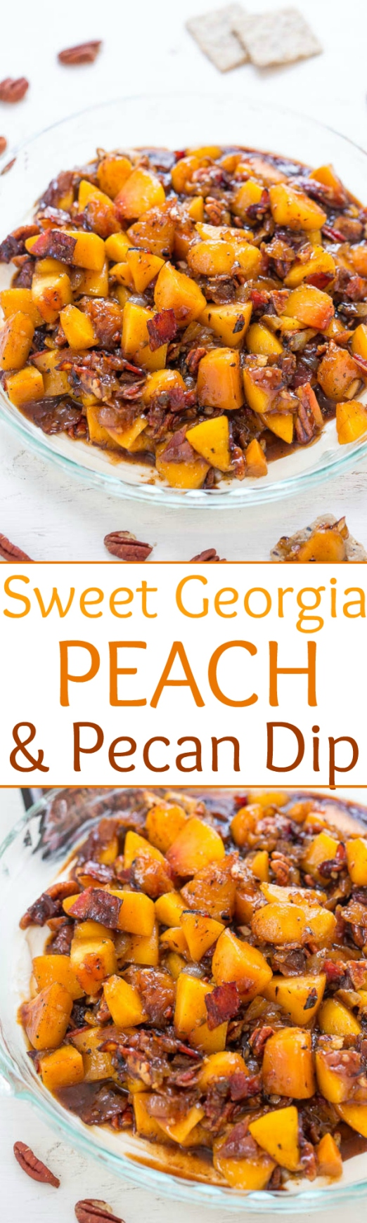 sweet georgia peach and pecan dip national eat a peach day