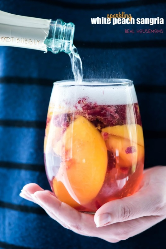 sparkling white peach sangria recipe national eat a peach day